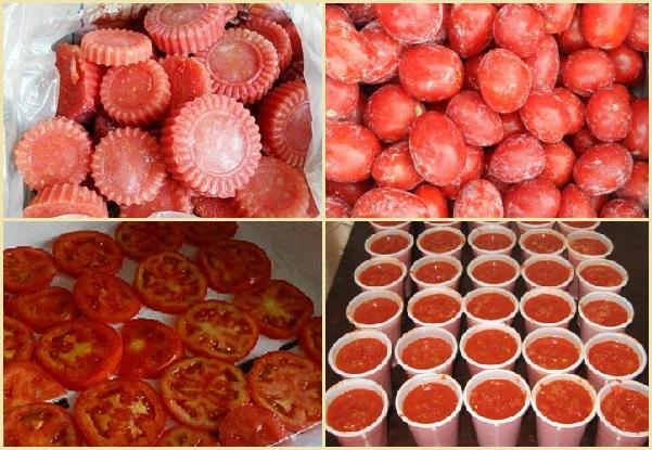 как заморозить помидоры с петрушкой